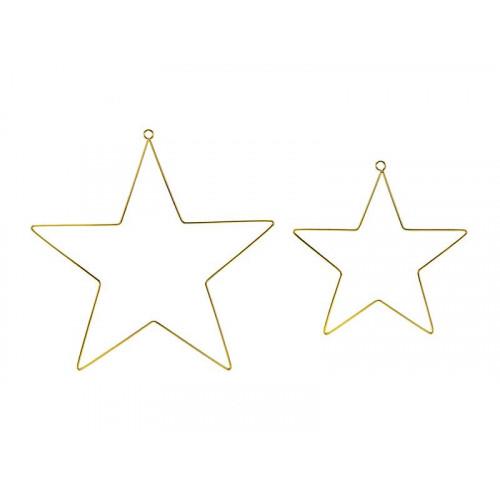 Dekorationsstjärnor guld - PartyDeco