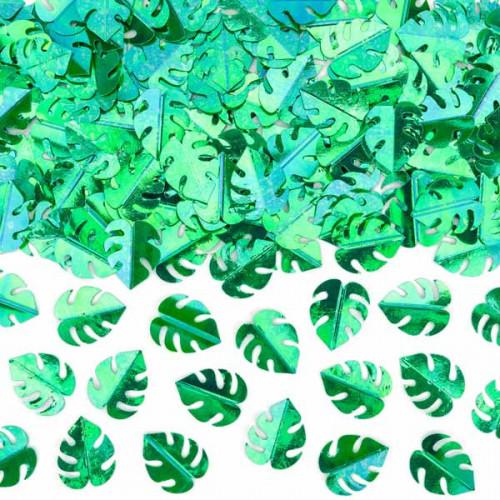 Konfetti gröna blad - PartyDeco