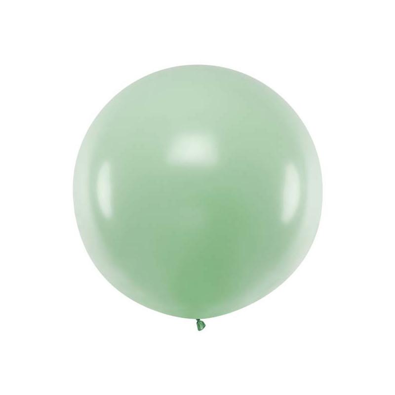 Rund ballong grön, pistage, 1 m - PartyDeco