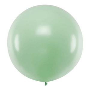 Jumboballong grön, pistage, 1 m - PartyDeco