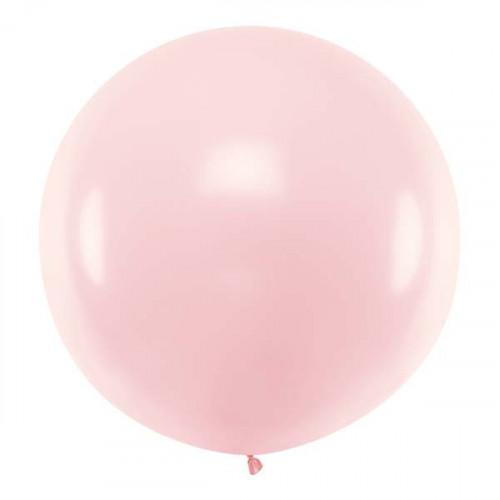 Rund ballong ljusrosa 1 m - PartyDeco