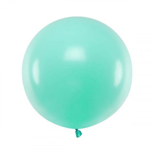 Rund ballong mintgrön 60 cm - PartyDeco