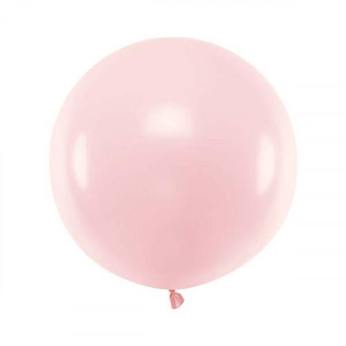 Rund ballong ljusrosa 60 cm - PartyDeco