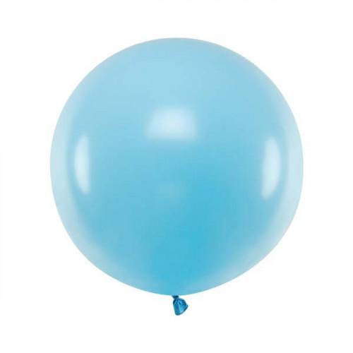 Rund ballong ljusblå 60 cm - PartyDeco