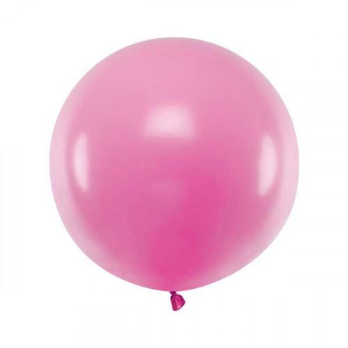 Rund ballong rosa 60 cm - PartyDeco