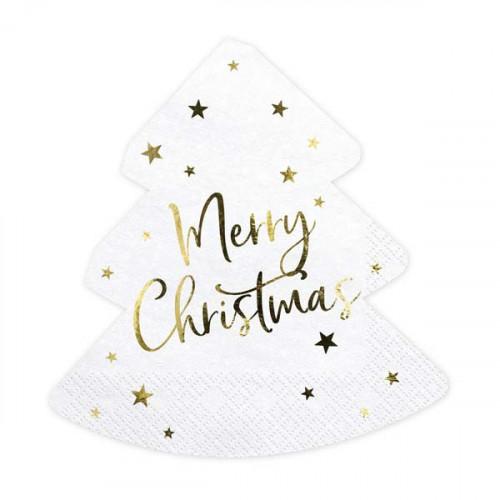 Servetter Julgran Merry Christmas - PartyDeco