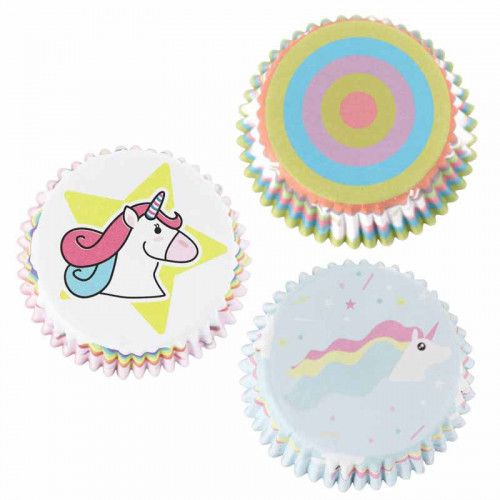 Muffinsformar i folie Unicorns - PME