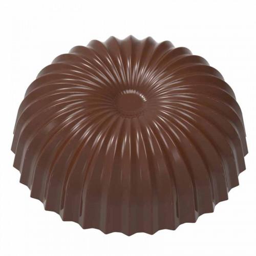 Pralinform Halvklot veckad platt - Chocolate World