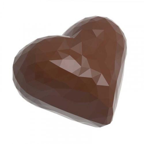 Pralinform Hjärta fasett dubbel - Chocolate World