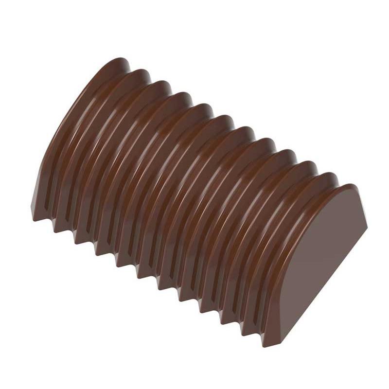 Chocolate World Pralinform rektangel veckad