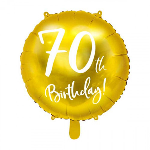 Folieballong 70th Birthday - PartyDeco