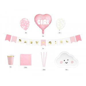 Babyshower Set, rosa - PartyDeco