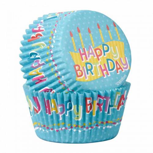 Muffinsform Happy Birthday - Wilton