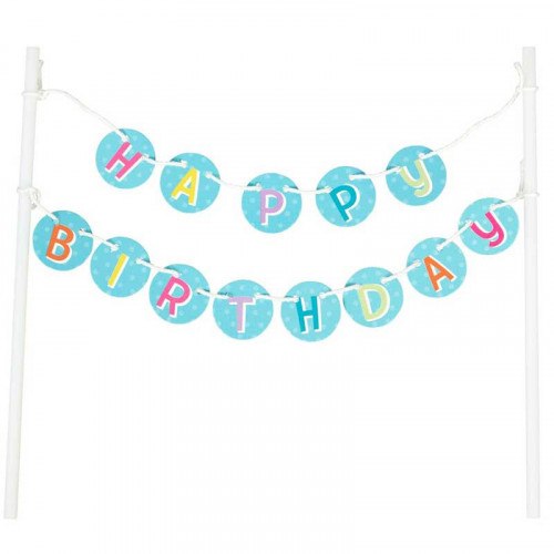 Happy Birthday Banner, cake topper - Wilton
