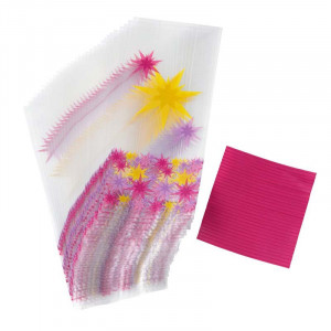 Godispåsar rosa & gula stjärnor - Wilton