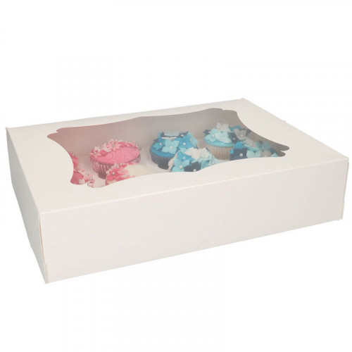 Vita cupcake boxar för 12 cupcakes