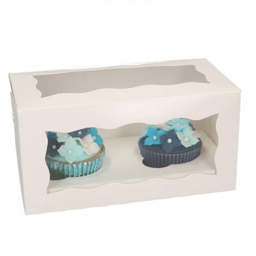 Cupcake boxar för 2 cupcakes, 5-pack