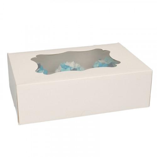 Cupcake boxar för 6 cupcakes, 3-pack
