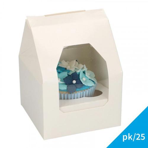 Små cupcake boxar för 1 cupcake, 25-pack