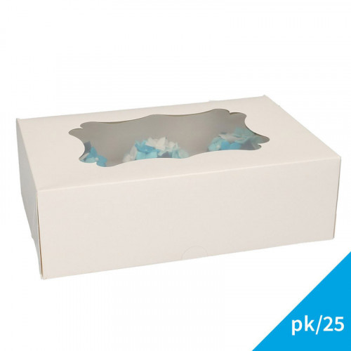 Cupcake boxar för 6 cupcakes, 25-pack