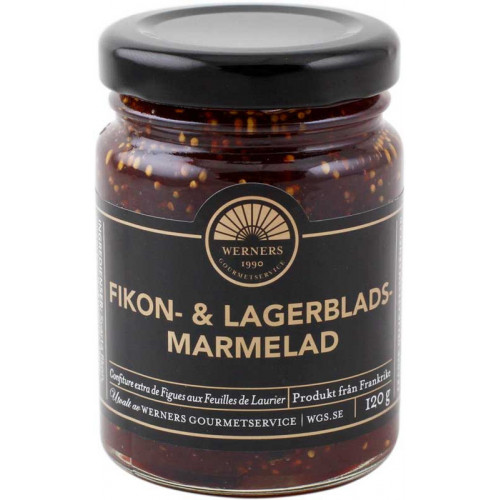 Fikon- & lagerbladsmarmelad 120 g - Werners Gourmetservice
