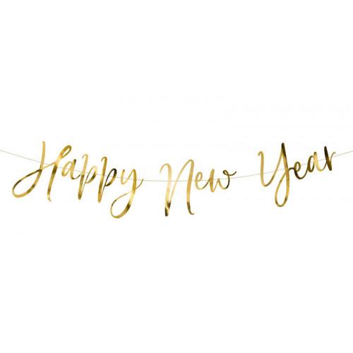 Happy New Year Girlang i Guld