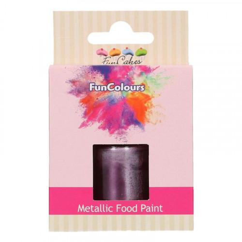 Ätbar Färg Lila Metallic - FunCakes