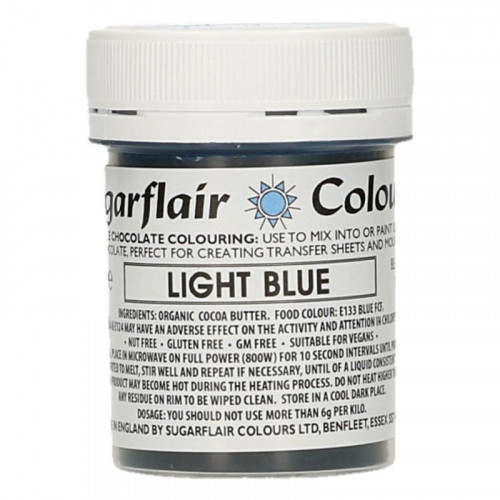 Chokladfärg Ljsblå - Sugarflair