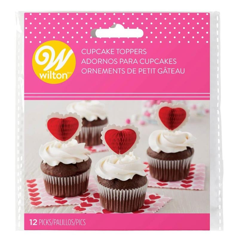 Cupcake Toppers Honeycomb Heart - Wilton