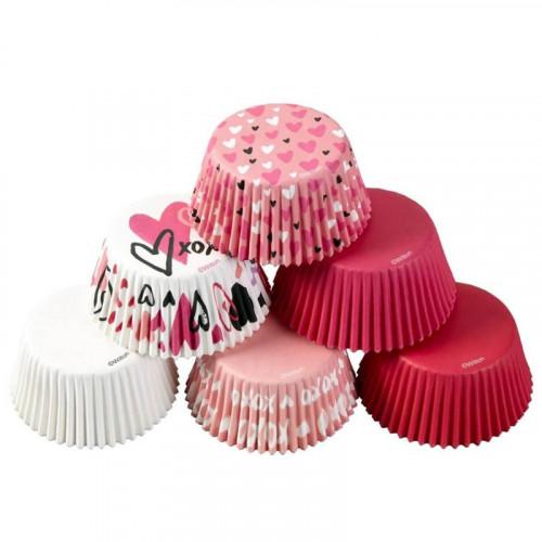 Muffinsformar Traditional Valentine 150 st - Wilton