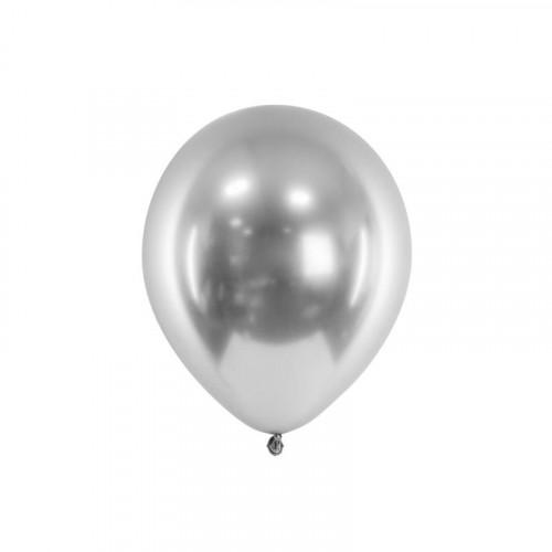 Metallic Ballonger Silver, 50 st - PartyDeco