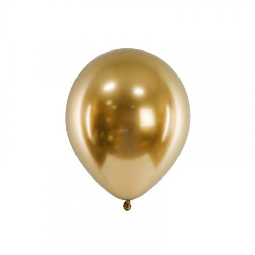 Metallic Ballonger Guld, 50 st - PartyDeco