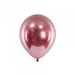 Metallic Ballonger Roséguld, 50 st - PartyDeco