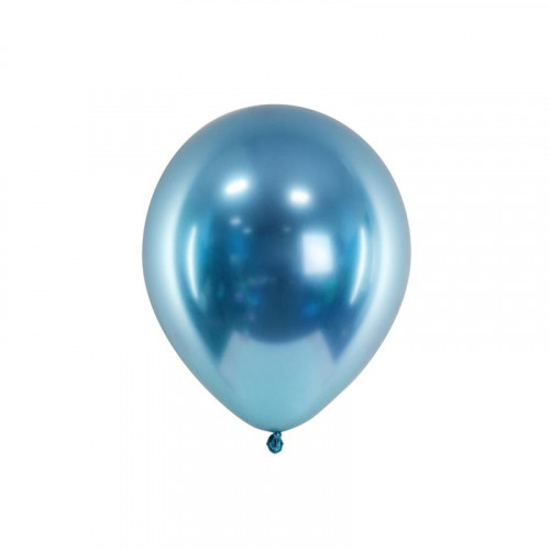 Metallic Ballonger Blå, 50 st - PartyDeco