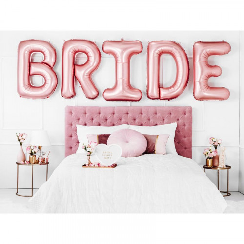 Folieballong Bride, roséguld - PartyDeco