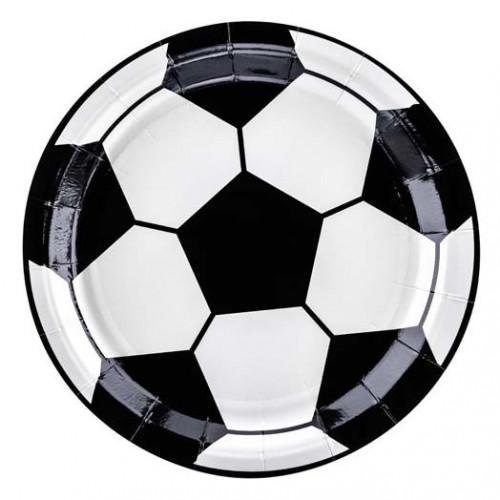 Papperstallrikar Fotboll - PartyDeco