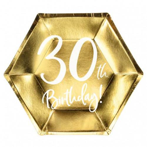 Papperstallrikar till 30årsfesten - PartyDeco