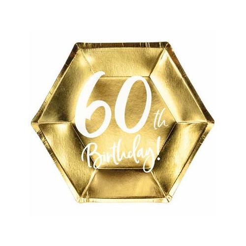 Papperstallrikar till 60årsfesten - PartyDeco