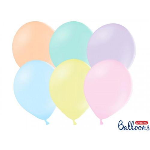 Små ballonger, pastellmix 12cm 100st - PartyDeco