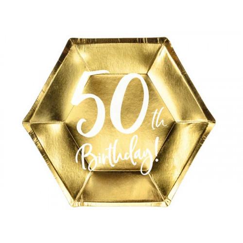 Papperstallrikar 50årsfesten - PartyDeco