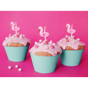 Tårtljus Flamingo - PartyDeco
