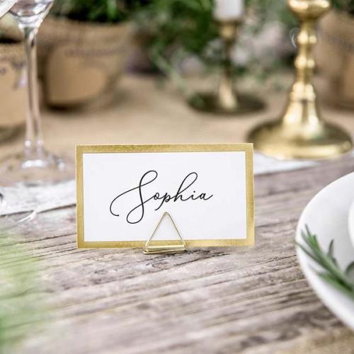 Placeringskort med guldkant - PartyDeco