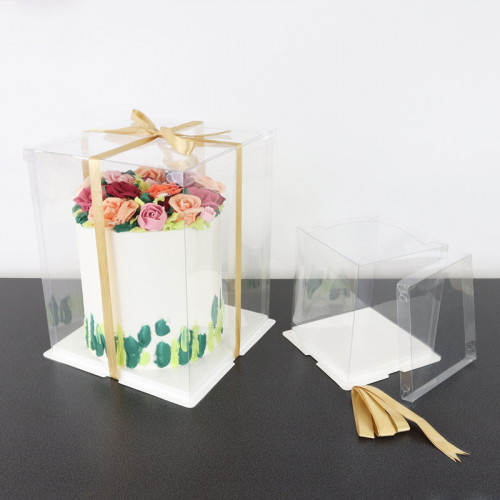 Genomskinlig tårtkartong 25 cm - PME