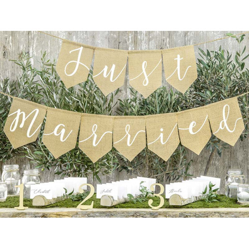Just Married Girlang 23 x 185cm - PartyDeco