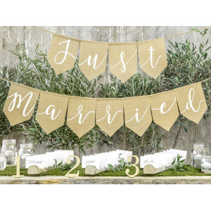 Girlang Just Married, Jute - PartyDeco