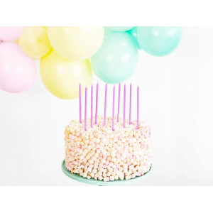 Tårtljus, Ljuslila - PartyDeco