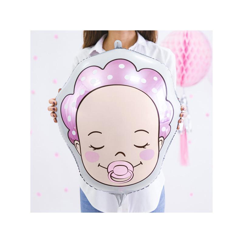 Folieballong Bebis Rosa - PartyDeco