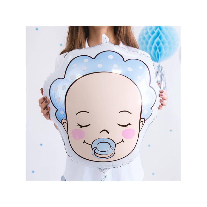 Folieballong Bebis Babyblå - PartyDeco