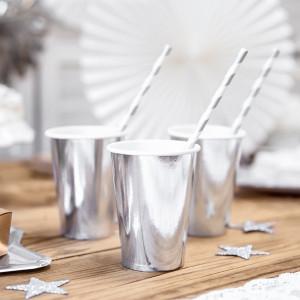 PartyDeco Pappersmuggar, silver