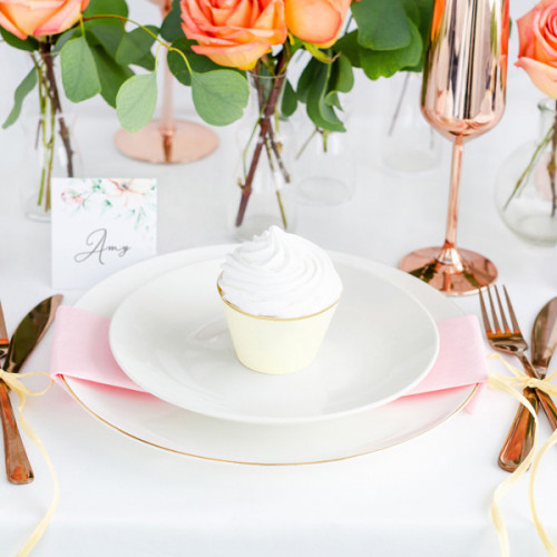 PartyDeco Cupcake Wrappers Creme
